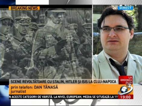"""Scene revoltătoare cu Stalin, Hitler şi Isis la Cluj-Napoca. A răsunat strigătul """"Allah Akbar"""", chiar în centrul orașului"""