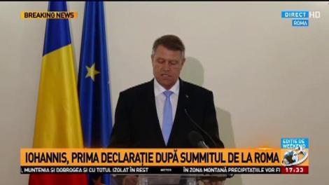 Klaus Iohannis: Menținerea unității celor 27 de state membre este și trebuie să rămână deviza noastră