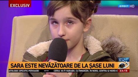 Sara, fetița de 10 ani care a impresionat România cu vocea sa, la Sinteza zilei