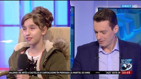 Sara, fetița de 10 ani care a impresionat România cu vocea sa, îi cântă muzică populară lui Mircea Badea