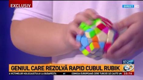 Copilul care rezolvă cubul Rubik cu un singur deget - demonstrație