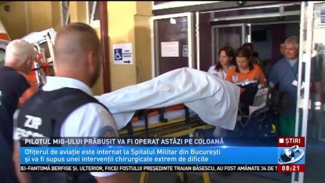 Pilotul MIG-ului prăbușit în Constanța va fi operat pe coloană!  A reuşit să se catapulteze chiar înainte ca avionul să se prăbuşească