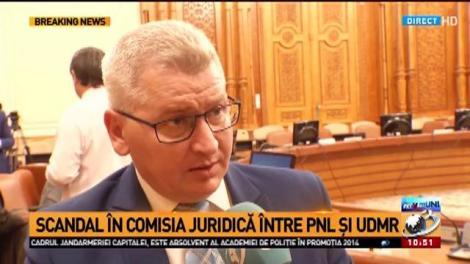 Scandal în comisia juridică între PNL și UDMR
