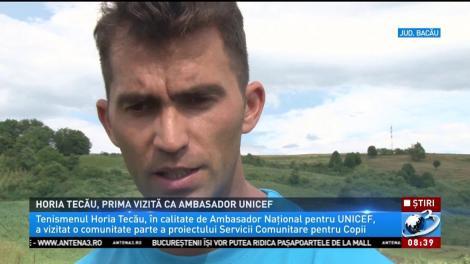 Campionul de tenis Horia Tecău, prima vizită ca ambasador UNICEF