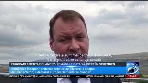 Europarlamentar olandez: România e gata să intre în Schengen