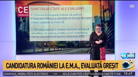 Candidatura României la Agenţia Europeană a Medicamentului, evaluată greșit. Bruxelles recunoaște eroarea - DOCUMENT