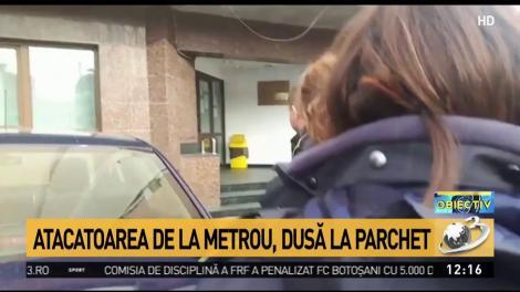 Criminala de la metrou, adusă la parchet! Imagini exclusive cu cea care a aruncat-o pe Alina Ciucu în faţa trenului