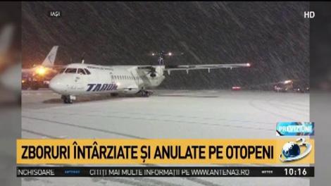 Vremea rea afectează şi aeroporturile. Zboruri întârziate și anulate pe Otopeni