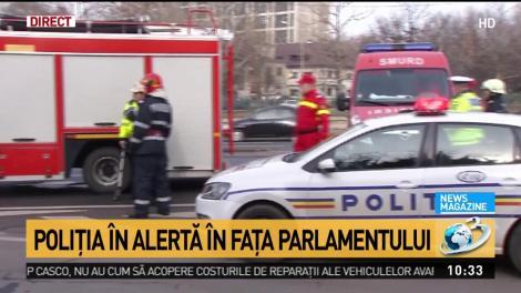 Accident lângă Palatul Parlamentului! Un copil a fost rănit, iar o mașină s-a răsturnat - Video