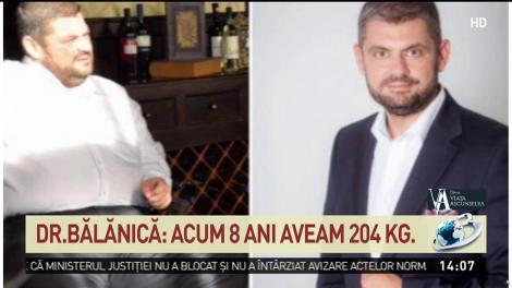 """Un medic român povestește cum a slăbit 104 kilograme în 8 luni. Doctorul Bălănică: """"Ajunsesem obez, nu mă puteam mișca"""""""