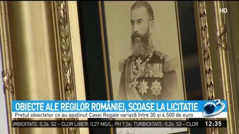Pentru prima dată, obiecte ce au aparținut regilor României vor fi scoase la vânzare. Prețurile încep de la treizeci de euro
