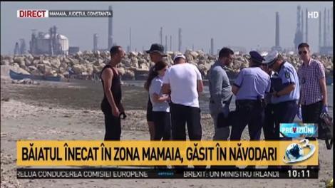 Trupul elevului dispărut în mare a fost găsit. Tatăl lui a asistat la operațiunea de căutare