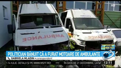 Un om politic din Gorj, acuzat că a furat motoare de ambulanță! Primarul din localitate a anunțat Poliția
