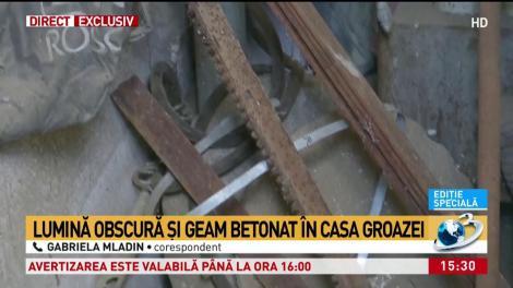Cum arată camera în care Gheorghe Dincă a ținut-o sechestrată pe Alexandra! Încăperea mizeră are o fereastră zidită (VIDEO)