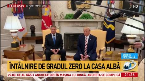 """Întâlnire Iohannis - Trump. Președintele SUA, declarații surpriză despre România: """"Americanii iubesc românii"""""""
