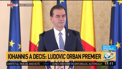 Ludovic Orban, prim-ministrul desemnat, prezintă prioritățile noului Guvern - VIDEO