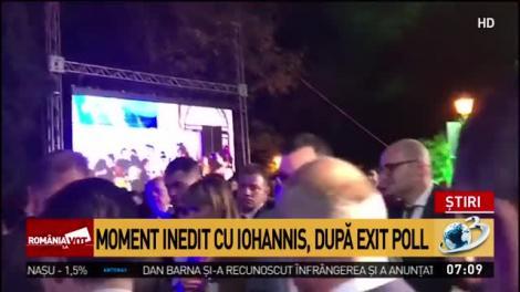 Alegeri prezidențiale 2019. Klaus Iohannis, moment inedit după EXIT POLL. Ce nu s-a văzut la televizor, după discursul de învingător