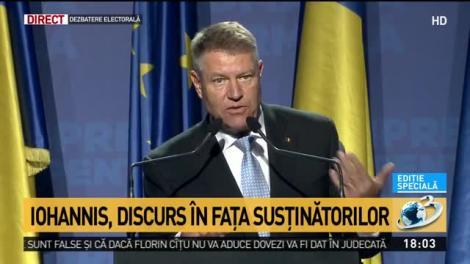 """Klaus Iohannis, discurs în fața susținătorilor la Baia Mare: """"Vă rog să mergeți la vot. Doar atunci vom avea legitimitatea să reconstruim România!"""""""