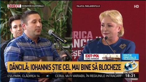 Momentul dezbaterii! Răspunsul spumos al Vioricăi Dăncilă după ce a fost întrebată dacă Dragnea a fost un om nociv pentru România