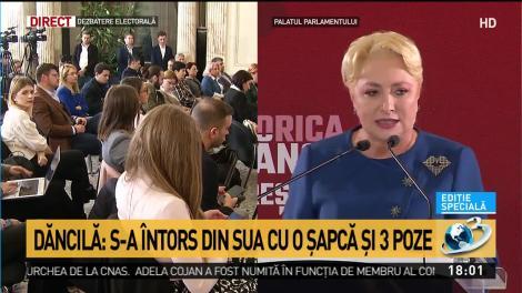 """Viorica Dăncilă, atac furibund la adresa lui Iohannis: """"S-a întors din SUA cu o șapcă și trei poze"""""""
