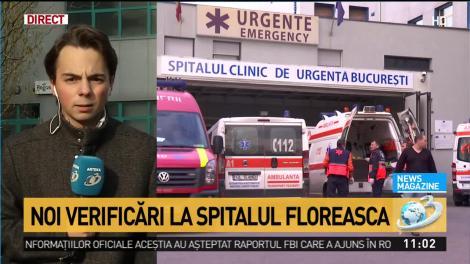 """Se adâncește criza de la Spitalul Floreasca. Unitatea medicală, verificată """"la sânge"""": """"Auditul va dura o lună, o lună și jumătate!"""""""