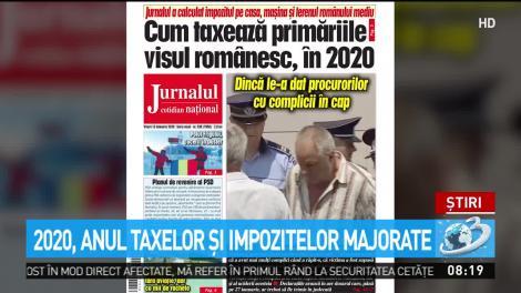 2020, anul taxelor şi impozitelor majorate!