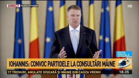 Iohannis: Soluția corectă, anticipatele