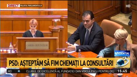 Lia Olguţa Vasilescu anunţă voturile exprimate în urma moţiunii de cenzură