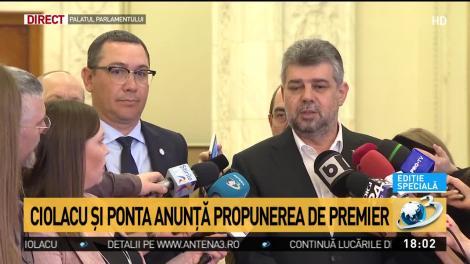 Ciolacu și Ponta anunță propunerea de premier