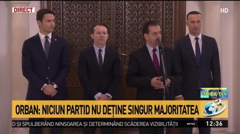 Orban: Niciun partid nu deţine singur majoritatea