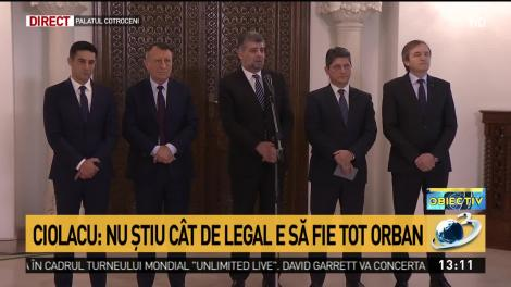 """Marcel Ciolacu, după consultări: """"Dacă președintele îl propune tot pe Orban, luăm în considerare o sesizare la CCR"""""""