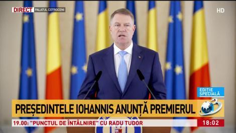 Iohannis: Îl desemnez pe Orban să formeze un nou Guvern