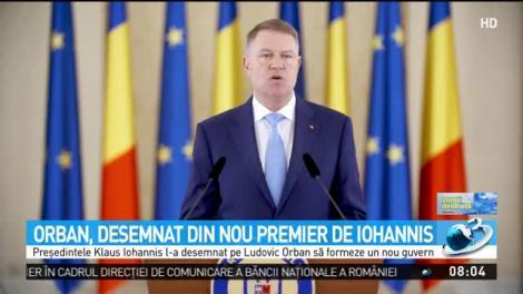Orban, desemnat din nou premier de Iohannis