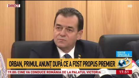 Orban, primul anunț după ce a fost propus premier