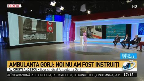 """""""Avem costume pentru zugravi, instalatori. Nu am fost instruiți""""- Ambulanțierii din Gorj, acuzații grave în scandalul coronavirusului"""