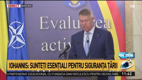Iohannis, mesaj important pentru poliţişti: Sunteţi esenţiali pentru siguranţa ţării