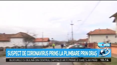 Suspect de coronavirus prins la plimbare prin oraş