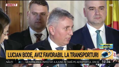 Lucian Bode, ministrul propus la Transporturi, a primit aviz pozitiv
