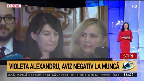 Violeta Alexandru, aviz negativ la muncă