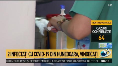 Doi bolnavi cu coronavirus, vindecaţi la Hunedoara