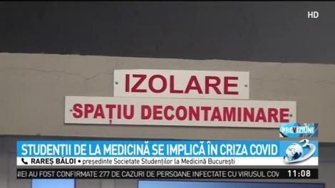 Studenţii la Medicină din Bucureşti se implică în criza coronavirusului