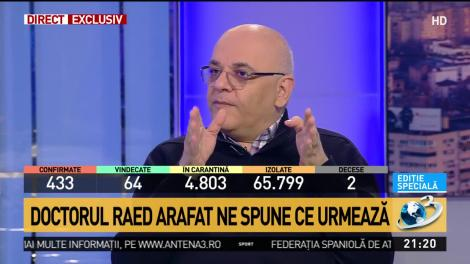 """Raed Arafat, afirmație șocantă: """"Să nu creadă lumea că numărul cazurilor confirmate înseamnă că atâtea sunt"""""""
