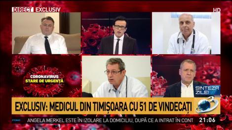 Medicul care a vindecat cei mai mulți pacienți români cu coronavirus ne spune ce trebuie să facem prima oară când intrăm în casă