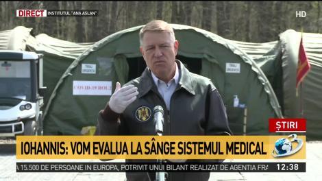 Iohannis, după vizita la Spitalul de campanie: Este o perioadă foarte grea, această criză va mai dura