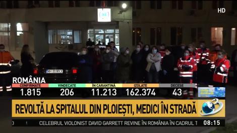 """Revoltă la Spitalul din Ploieşti, în timpul crizei generate de coronavirus! Medici în stradă! """"Fiecare face ce vrea mușchiul lui"""" - VIDEO"""