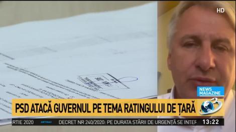 PSD atacă Guvernul pe tema ratingului de ţară