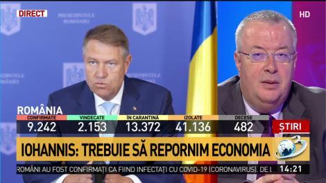 Bogdan Chirieac, după discursul lui Iohannis: E de ales dacă să ai mai mulţi morţi de coronavirus sau de foame