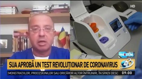 """Test pentru COVID-19 cu rezultat în 2 minute, aprobat de SUA. """"Paradoxul e că nimeni nu vrea să testeze, până când lucrurile nu sunt extrem de grave"""""""