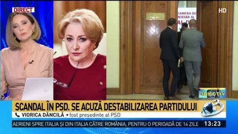 Scandal în PSD. Viorica Dăncilă, acuzată de destabilizarea partidului. Dăncilă: Ciolacu a pus PSD într-o situație umilitoare