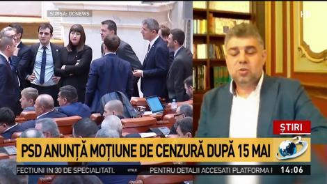 PSD anunţă moţiune de cenzură după 15 ma